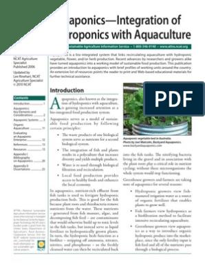 Attra Aquaponics Integratoin Of Hydroponic With Aquaculture Aquaponics Hydroponics