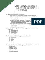 Tema Numero 1 Ciencia. Medicina, Lenguaje Como Fenomenos Historicos y Sociales