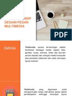 Desain Pesan Prinsip Multimedia