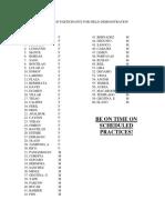 Field Demo List