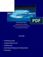 1. Fast Disintegrating Tablets