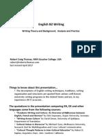 English Writing B2 - Theory - 2017.10.09