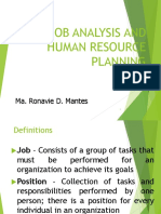 Work Analysis - Human Resource