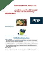 Top AntiInflammatory Foods