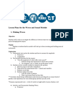 Waves and Sound LESSON PLANS Oultine Final02