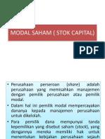 Modal Saham ( Stok Capital)