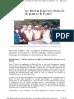 Inauguration Du Pont de Bettié - Abidjan.net Du 06-09-2015