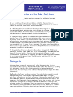 Lubricant Properties and the Role of Additives