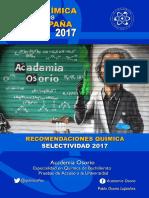 Recomendaciones Quimica Selectividad 2017