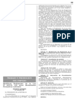 D.S 018 - 2012 reglamento TRABAJO