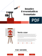 inspired Red template ppt