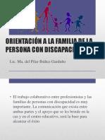 Orientación a La Familia de La Persona Con