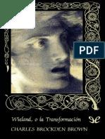 Wieland o La Transformacion