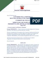 Transcripción de Sesión de Comisión de Justicia