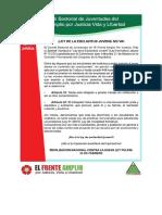 PRONUNCIAMIENTO DE LA SECRETARIA DE JUVENTUDES DEL FRENTE AMPLIO