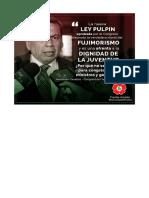RESPUESTA DEL CONGRESISTA DEL FRENTE AMPLIO  SOBRE Nueva Ley Pulpin