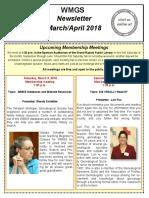 WMGS Newsletter - Mar-Apr 2018