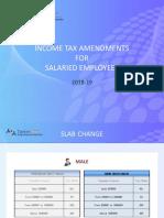 Income Tax Amendments 2018-2019