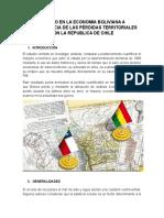 El Impacto en La Economia Boliviana a Consecuencia de Las Pérdidas Territoriales Con La Republica de Chile