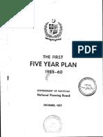 1st Five Year Plan 1955-60  - PAKISTAN