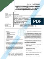 NBR9050 Acessibilidade de Pessoas Portadoras de Deficiências a Edificações