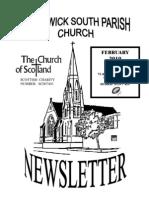 February 2010 Prestwick South Parish Church Newsletter