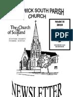 March 2010 Prestwick South Parish Church Newsletter