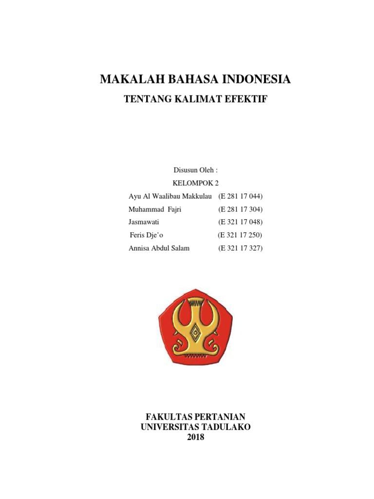 Makalah Bahasa Indonesia Pdf Pdf