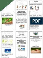 Folder Malária Rorainópolis