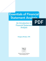 Essentials of Financial Statement Analysis Sample