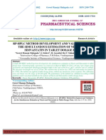 RP-HPLC METHOD DEVELOPMENT AND VALIDATION FOR THE SIMULTANEOUS ESTIMATION OF NIACIN AND SIMVASTATIN IN TABLET DOSAGE FORM