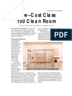 Low-Cost Clean Rooms