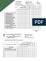 Registro de Evaluación Homiletica II