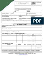 Anexo N1 Formato de Actualizacion de Informacion de Graduandos