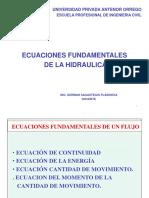 SESION 3 Ecuac. Fund. de La Hidraulica