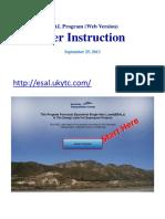 ESAL Instructions