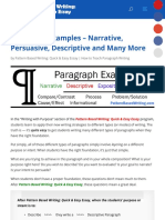 Paragraph Examples – Narrative, Persuasive, Descriptive and Many More | Teaching Writing Fast and Ef