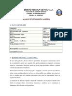 Syllabus de Legislacion Laboral