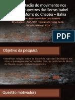 Representação do movimento nos desenhos rupestres nas Serras Isabel Dias, em Morro do Chapéu-Bahia