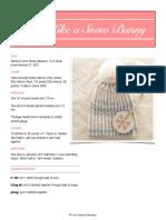 AA Snow Bunny Hat PDF