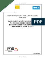 CCN-STIC-880 Implementación Del ENS en Exchange 2013 Sobre Windows Server 2012 R2
