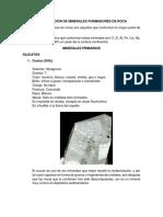 Identificacion de Minerales Formadores de Roca