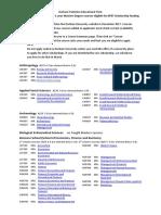 List of Masters Courses Dec 17