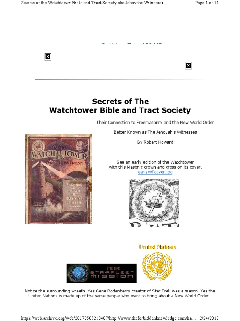 Secrets of the Watchtower Part I | Freemasonry | Prophet
