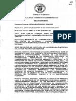 Sentencia del Consejo de Estado en el caso del Túnel Verde