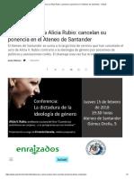 Nueva Censura a Alicia Rubio_ Cancelan Su Ponencia en El Ateneo de Santander - Actuall