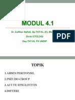 THT_Abses Peritonsil, Pseudo-Croop, Acute Epiglotitis, Difteria_Kelas A_28 Februari 2017_dr. Zulfikar Naftali, M.si.Med. Sp.tht-KL