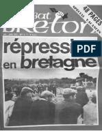 COMBAT BRETON - No 6-7 - Juin-juillet 1975 - Repression en Bretagne