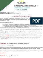 [EPFO] CFO Módulo IV Ser Um Oficial e Profissionalismo