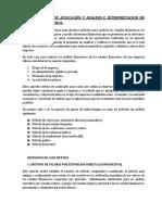 Métodos de Aplicación de Analisis Financiero.